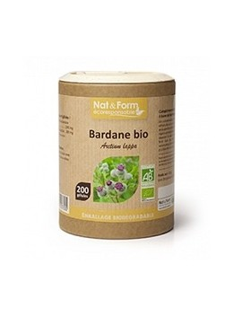Bardane Bio Eco Responsable - Nat & Form - Purifie et assainit la peau